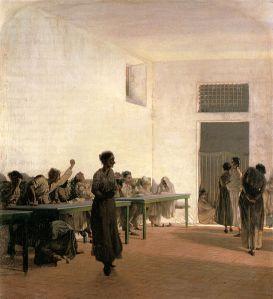 La sala delle agitate al San Bonifazio in Firenze, 1865, 66x59cm